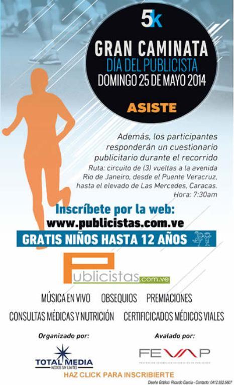 MSC Noticias - caminata_201 Agencias Com y Pub Deportes FEVAP Maratones Publicidad Salud