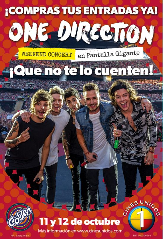 MSC Noticias - Afiche-One-Direction Agencias Com y Pub Cine Diversión Marketing Musica Pizzolante