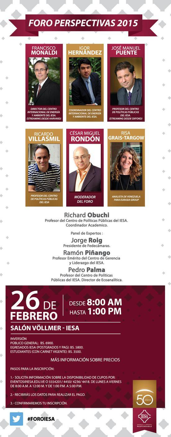 MSC Noticias - Invitación-foro-Perspectivas-IESA-2015 Agencias Com y Pub Cursos y Seminarios Negocios Publicidad