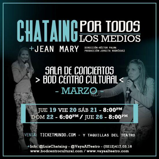 MSC Noticias - IMAGEN-INSTAGRAM-BOD-CHATAING-03 Agencias Com y Pub Diversión Publicidad Teatro