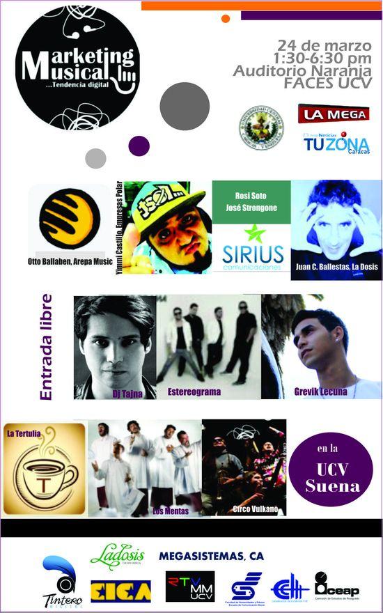MSC Noticias - Invitación-MKTMusical-tendencia-Digital-en-la-UCV Agencias Com y Pub Cursos y Seminarios Publicidad