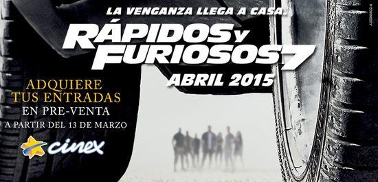 MSC Noticias - PreventaRapidosyFuriosos7 Agencias Com y Pub Cine Cinex Com Diversión Publicidad