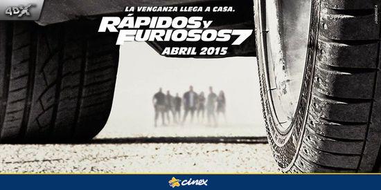 MSC Noticias - RapidosYFuriosos7_4DX Agencias Com y Pub Cine Cinex Com Diversión Publicidad
