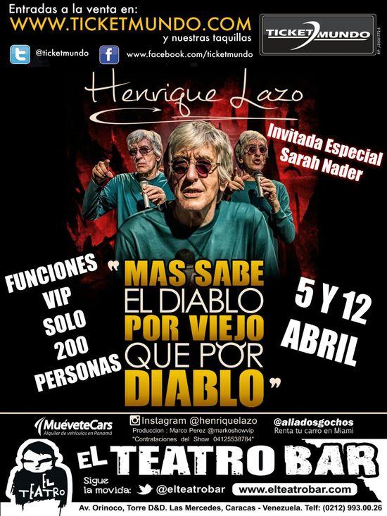 MSC Noticias - LAZO-FUNCIONES-VIP-5-Y-12-DE-ABRIL Agencias Com y Pub Diversión Publicidad Teatro