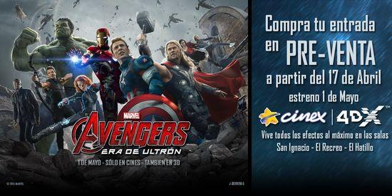 MSC Noticias - PreventaAvengersEradeUltron Agencias Com y Pub Cine Cinex Com Diversión Publicidad