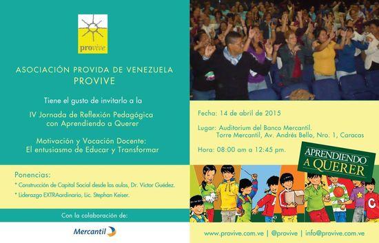 MSC Noticias - Tarjeta-Provive-IV-jormadas-Pedagógicas-abril-2015 Agencias Com y Pub Cursos y Seminarios Negocios Publicidad