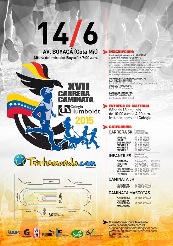 MSC Noticias - Afiche-carrera-caminata-C.H-2015 Agencias Com y Pub Deportes Maratones Publicidad