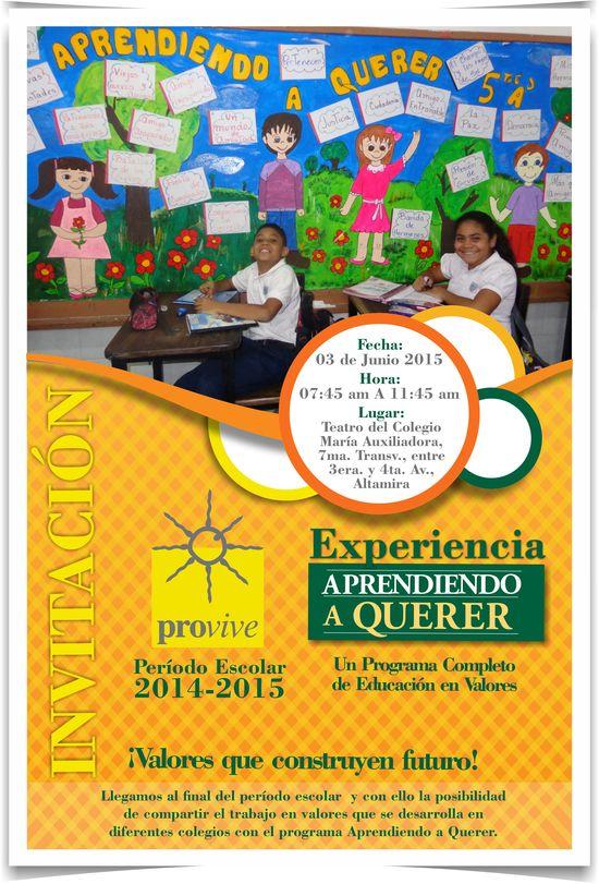 MSC Noticias - Invitacion-Provive-Experiencia-2014-2015 Agencias Com y Pub Publicidad RSE