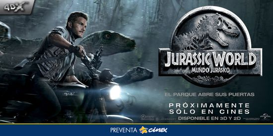 MSC Noticias - PreventaCinex-Jurassic-World Agencias Com y Pub Cine Diversión Grupo Plus Com Negocios Publicidad
