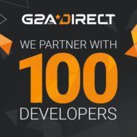 G2A ya se ha asociado con 100 desarrolladores y editores